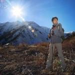 Cosmética natural en la montaña en verano
